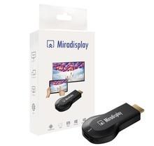 MIRADISPLAY OTA HDMI Stick de TV Wi-Fi Pantalla Dongle Receptor mejor EasyCast Airmirroring Miracast DLNA Airplay Chromecast