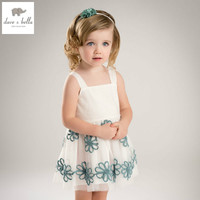 DB5144 Dave Bella Summer Baby Girls Princess Dress Flowers Dress Wedding Dress Kids Birthday Dress Children