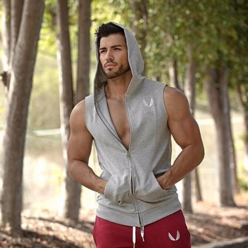 Mens Bodybuilding Hoodies Marke-kleidung Workout Shirts Mit Kapuze Trainingsanzug Männer Chandal Hombre Gorilla tragen Tier
