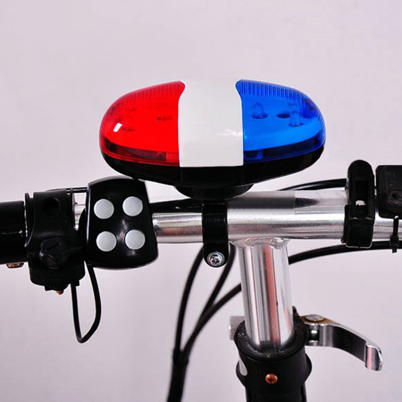 4 Sound Bicycle Horn Sport Mountain Mtb Bike Bell Police Car Siren