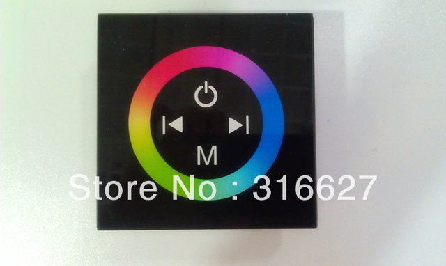 DC12-24V Touch Panel Full-color Controller RGB LED Controller Dimmer for LED strip lights