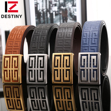 DESTINY Top leather belt men luxury famous brand gg high quality designer fashion wide strap male double g ceinture gold silver(China (Mainland))