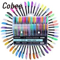 48 Color Multicolor Plastic Gel Filled Neutral Pen Student Writing Gift Office School Stationery