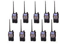 10 шт. Baofeng UV 5RA + плюс для полиции рация сканер Радио Dual Band CB ham Радио трансивер UHF 400 470/VHF136 174MHz