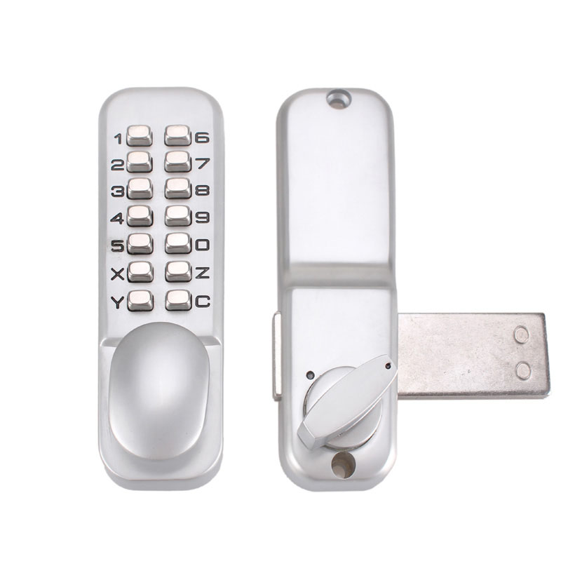 Theftproof cipher lock Zinc alloy code push button mechanical combination knob door lock stylish push button waterproof lever handle mechanical code door lock keys machine combination locks
