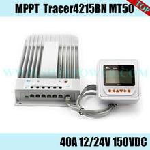EPSOLAR Tracer 4215BN 40A 12V 24V nowy Tracer 40 amperów MPPT ładowanie solarne regulator sterownika z MT50 odległych miernik lub WIFI ebox