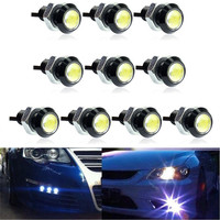 Car Styling KAKUDER 10x White DC12V 9W Eagle Eye LED Daytime Running DRL Backup Light Car