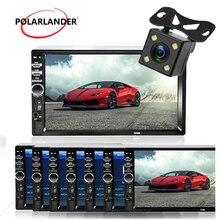 2 Din Автомагнитолы MP3 плеер с сенсорным экраном Bluetooth Авторадио автомобиля стерео радио-Кассетный проигрыватель FM/MP5/USB/AUX 7 дюймов Зеркало Ссы...
