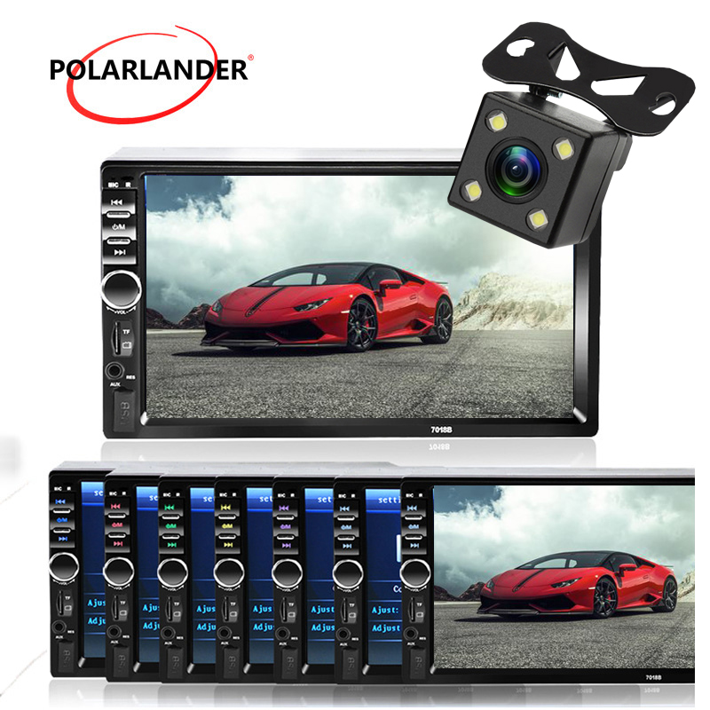 2 Din <font><b>Car</b></font> radio MP3 Player Touch screen Bluetooth <font><b>Car</b></font> Autoradio Stereo radio cassette player FM/MP5/USB/AUX 7 inch Mirror Link image