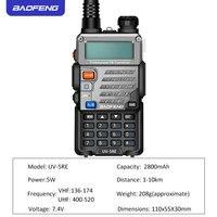 מכשיר הקשר מכשיר הקשר Baofeng UV5RE Dual Band UV5RE CB רדיו 128CH VOX פלדה מעטפת Ham Radio משדר מקצועיות לציד רדיו (2)