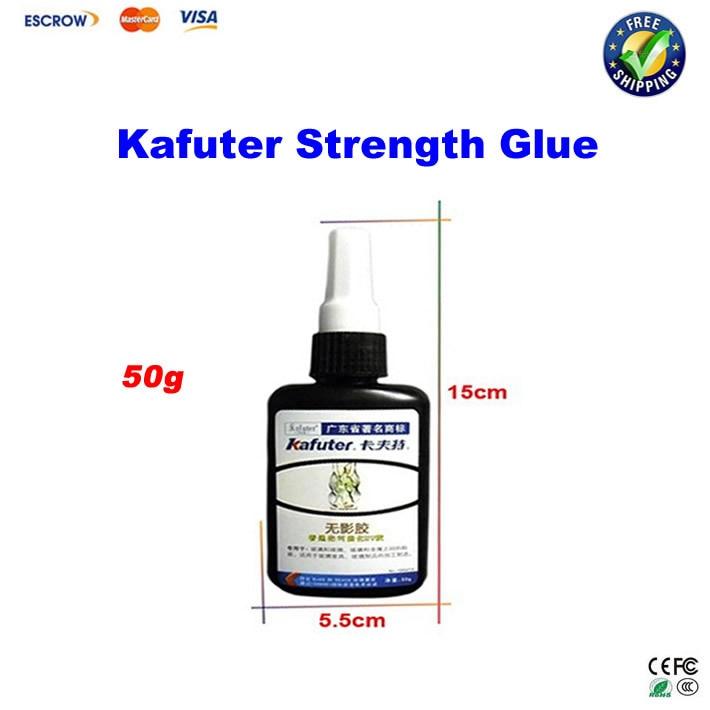 Free shipping!! 50g Kafuter Strength Glue Strong Bonding UV Light Cure Adhesive for Metal Glass