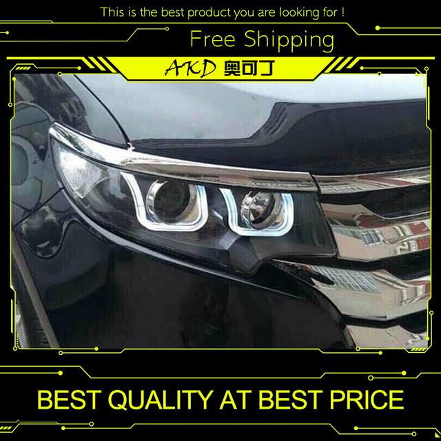 Akd Car Styling For Ford Edge Headlights   New Edge Led Headlight Drl Bi