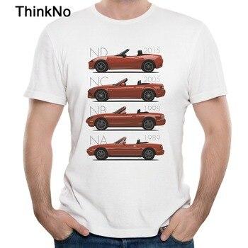 High-Q Mazda MX-5 Evolution Red Car T Shirt Summer Retro Streetwear T-shirt Free Shipping