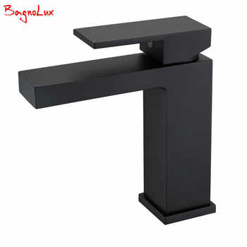 Bathroom Small Basin Tap Mixer 100% Solid Brass Newest Luxury Design Deck Mount Vessel Faucet Black Gold Chrome Silver Square - DISCOUNT ITEM  36% OFF All Category