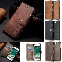 For IPhone 7 Luxury Business 2 In 1 Phone Case Card Slot Wallet Holster Leather Cover