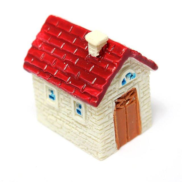 Cute Mini Resin House Miniature House Fairy Garden Micro Landscape Home  Garden Decoration Resin Crafts