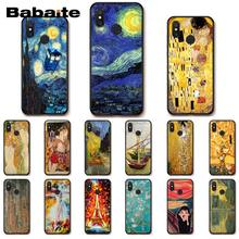 Babaite Kiss Gustav Klimt Van Gogh Starry Night สำหรับ Xiaomi MiA1 A2 Lite F1 Redmi8 4X 5 PLUS S2 Note7 8Pro 5A 6A(China)