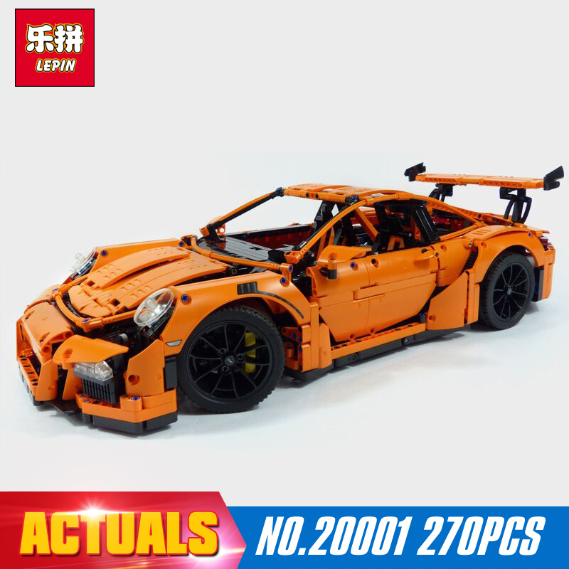 New LEPIN 20001 technic series 911 GT3 RS Race Car Model Building Kits Blocks Bricks Compatible 42056 Boys Gift