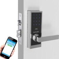 Venta RAYKUBE Aplicación de bloqueo de puerta electrónico Bluetooth Código de dígitos tarjeta IC Bloqueo de Hotel