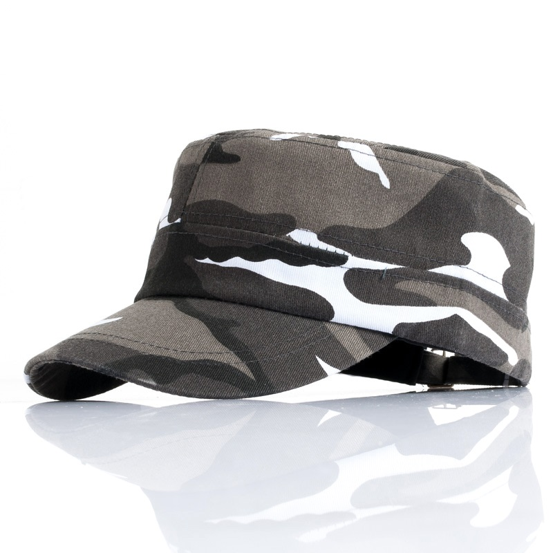 Camouflage Baseball Cap Adjustable Cotton Cap Hat Men Male Boys Women Female Rivet Snapback Hat Leisure Sun Hat Camouflage Hats
