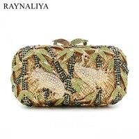 Newest Fashion Stylish Women Evening Bags Luxury Rhinestone Clutch Crystal Handbags Party Purse Wedding Bag Smyzh e0341