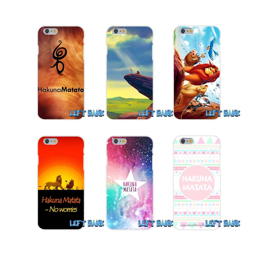 For Samsung Galaxy S3 S4 S5 MINI S6 S7 edge S8 Plus Note 2 3 4 5 Hakuna Matata on Sunset Lion King Loving Phone Case Silicone