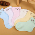 New Design Baby Socks 0-2 Years Old Comfortable Boy Girl Sock Soft Cotton Infant Newborn Socks Baby Born Cartoon Cat Sock