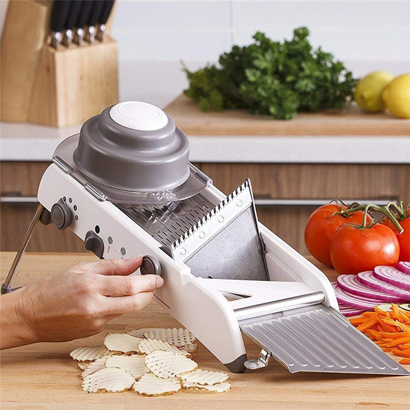 VOGVIGO Adjustable Vegetable Cutter Mandoline Slicer Professional Grater With 304 Stainless Steel Blades Kitchen Cutter Tools in Shredders Slicers from Home Garden