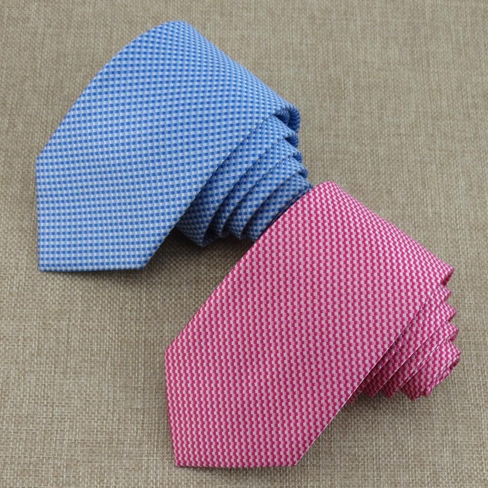 (1 pcs/lot) Mens Waterproof necktie/white Small grid pattern/11 kinds of color business formal Upscale boutique 7 cm tie
