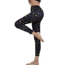 ZOGAA Brand Summer new Style Fitness Women Leggings Black Cute Cats Printed Slim Workout Ankel Length Pants