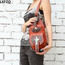 LXFZQ NEW Steampunk bag Holster Shoulder Back pack Purse Men's bag carteras mujer Motor Outlaw Pack Shoulder bag bolsa clutch