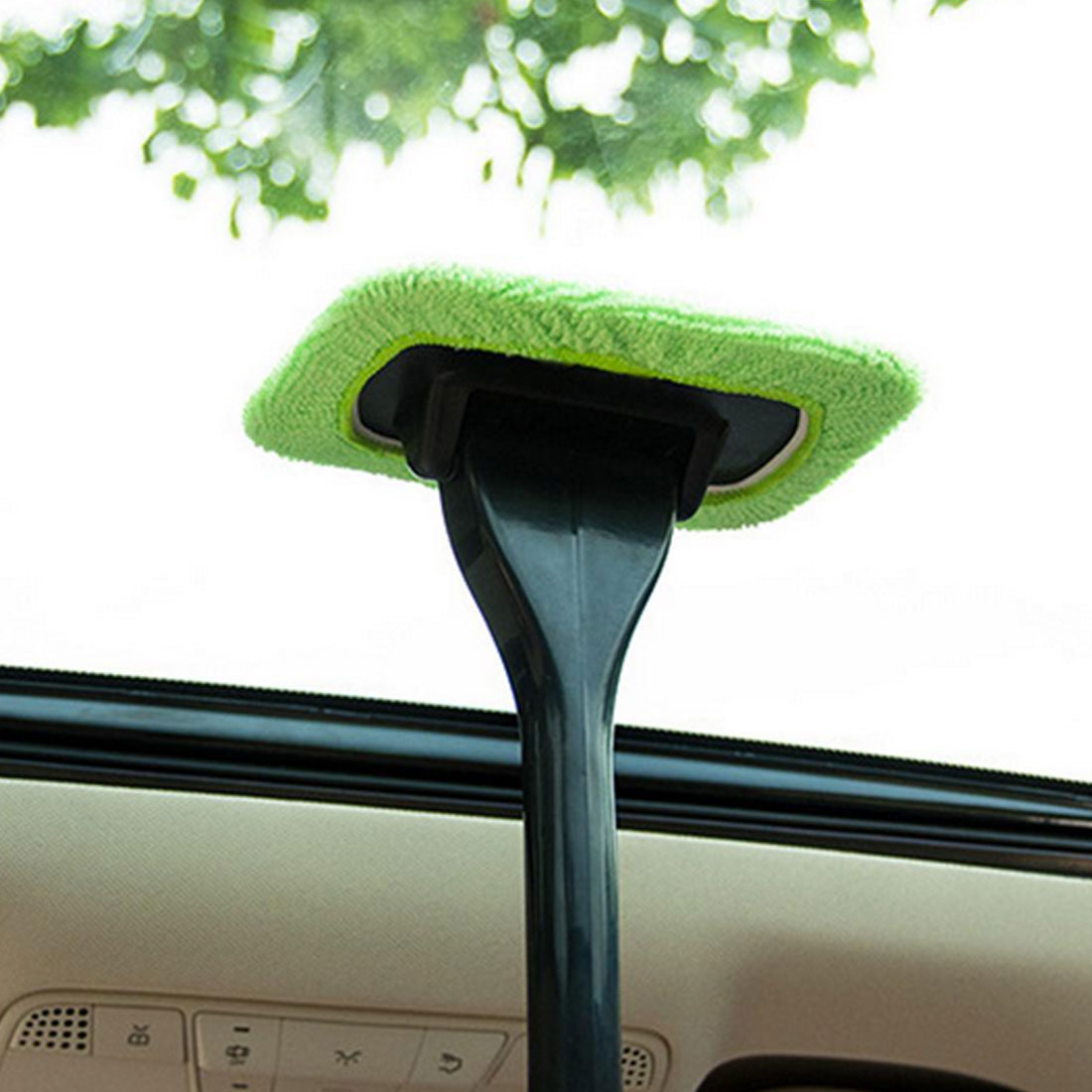 Car Auto Window Cleaner Microfiber Window Dust Fog Moisture Clean Brush Windshield Towel Washable Car Washer Cleaning Tool