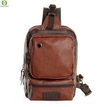 Große kapazität männer Messenger Bags leder casual männer brusttasche Multifunktions männer Umhängetaschen reisetaschen herren Umhängetaschen