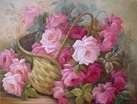 Beautiful Pink Rose Flowers DIY Full 5D Diamond Painting Cross Stitch Embroidery Kit Mosaics Resin Square