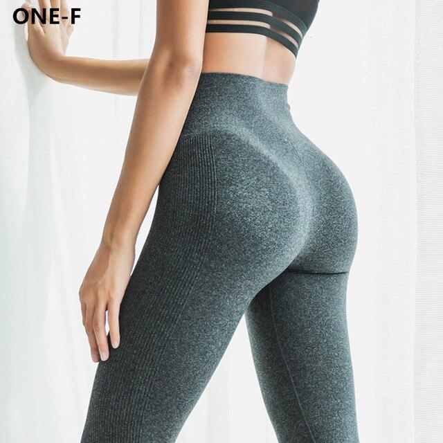 f9ee45b4b7 ONE-F high waist yoga pants women seamless skinny fitness gym leggings  breathable workout activewear yoga leggings