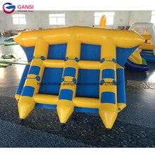 4 м * 3 м водные лодки надувные летающие рыбы с высоким качеством, забавные водные виды спорта надувные летающие рыбы буксируемые для детей и взрослых