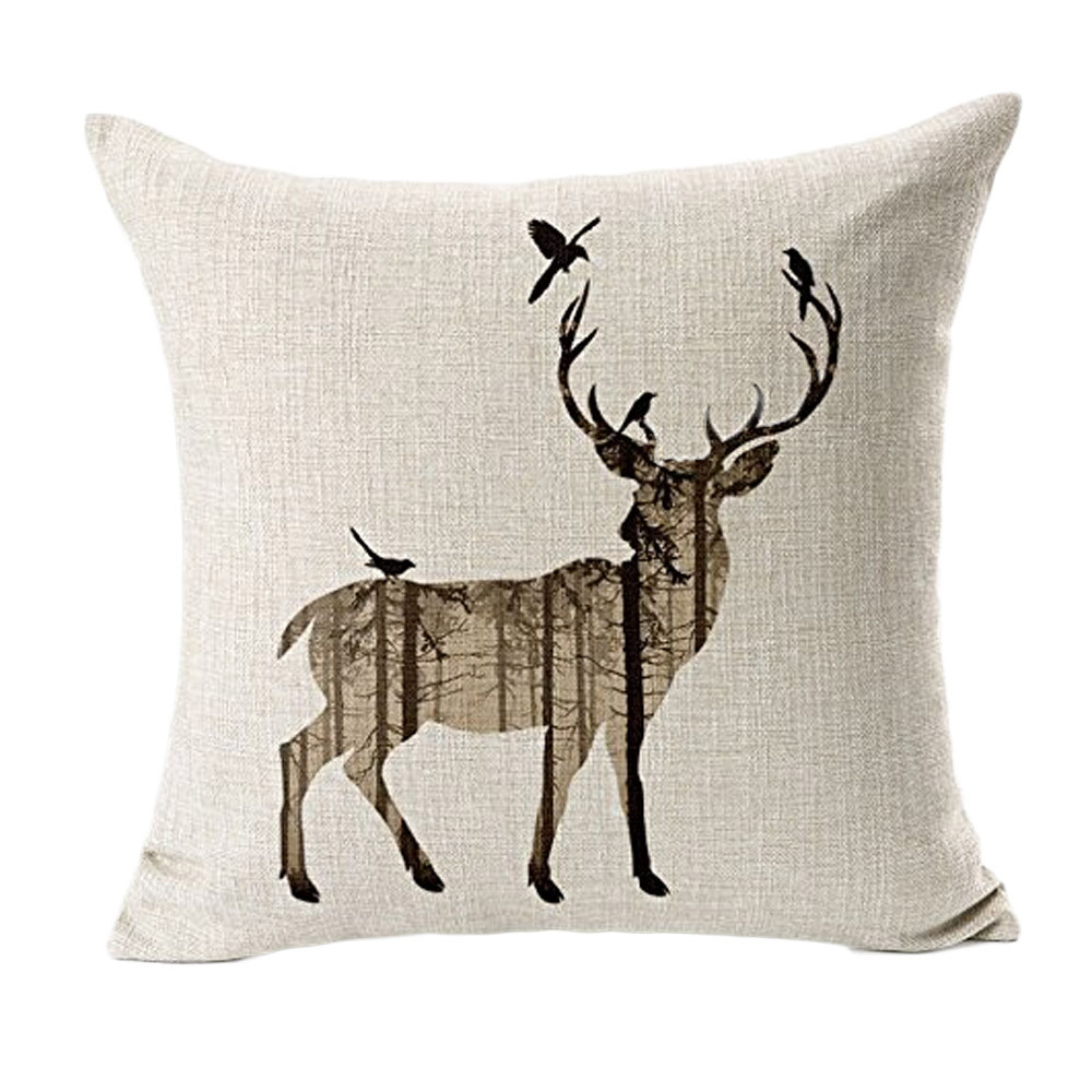 Stupendous Us 3 26 Pillowcase Deer Sofa Bed Home Decor Pillow Case Cushion Cover Pillow Case Decorative Pillows For Sofa Sea In Cushion Cover From Home Inzonedesignstudio Interior Chair Design Inzonedesignstudiocom