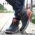 2016 Moda Botas de Couro Genuíno Dos Homens Sapatos Casuais Rendas Até Plana Botas de Motociclista calcanhar Dedo Do Pé Redondo Dos Homens Tornozelo Botas Tamanho 38-44 H72