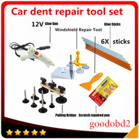 Car PDR Tools Paintless Dent Repair set 12V Glue Gun Dent Remove Bridge fix it pro Repaire Pen +Windscreen Windshield Repair Kit