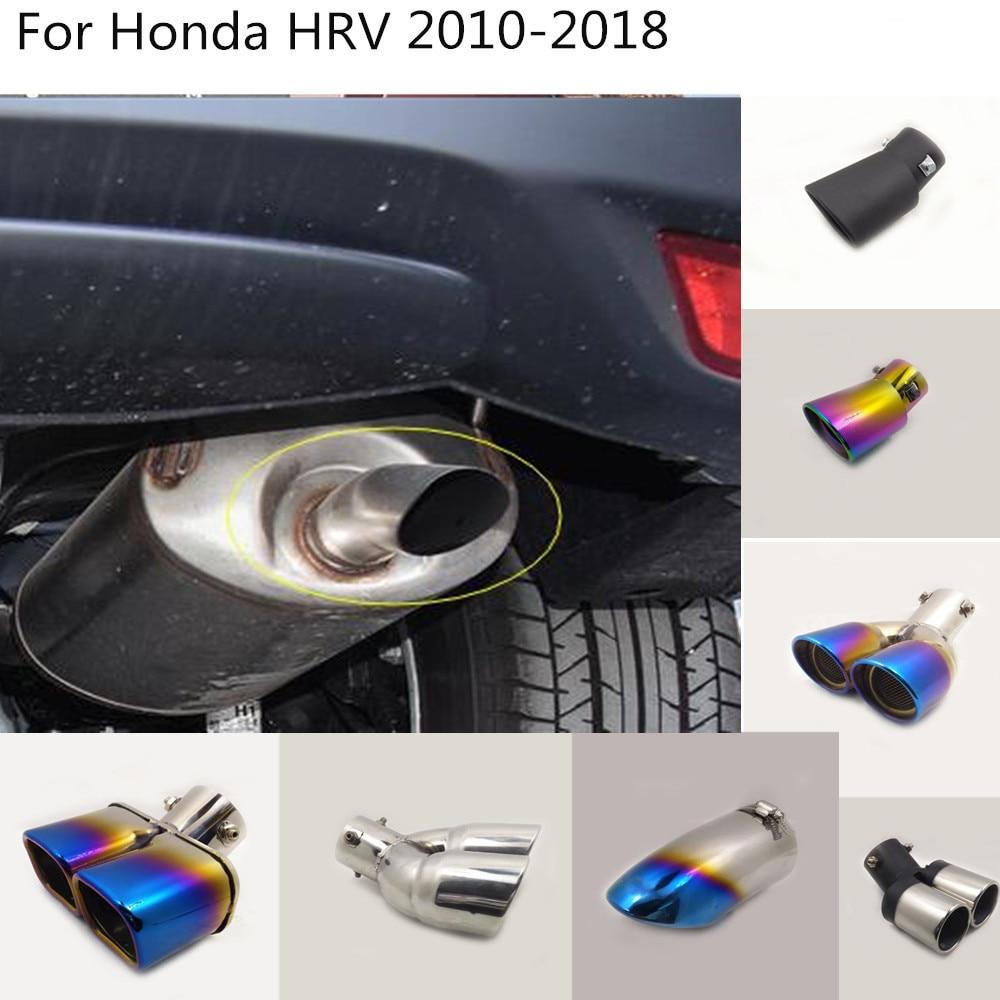 ฝาครอบรถท่อไอเสียท่อ outlet dedicate ไอเสียปลายหางสำหรับ Honda HRV HR-V Vezel 2010 2011 2012 2013 2014 2015 2016 2017 2018