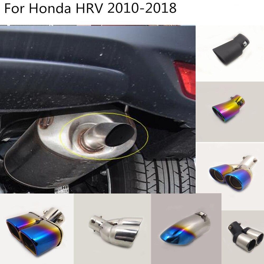 Araba kılıfı susturucu boru çıkışı adanmış egzoz İpucu kuyruk Honda HRV Için HR-V Vezel 2010 2011 2012 2013 2014 2015 2016 2017 2018