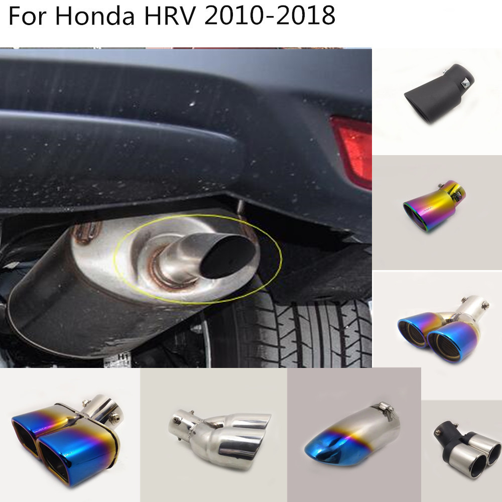 Car Cover Muffler Pipe Outlet Dedicate Exhaust Tip Tail For Honda HRV HR-V Vezel 2010 2011 2012 2013 2014 2015 2016 2017 2018