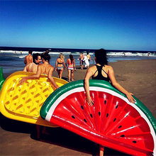Hot Watermelon Floats Pineapple Swimming Ring Floating Row Inflatable Pool Float For Child Adult Water Toys Mattress Sea Party(China)