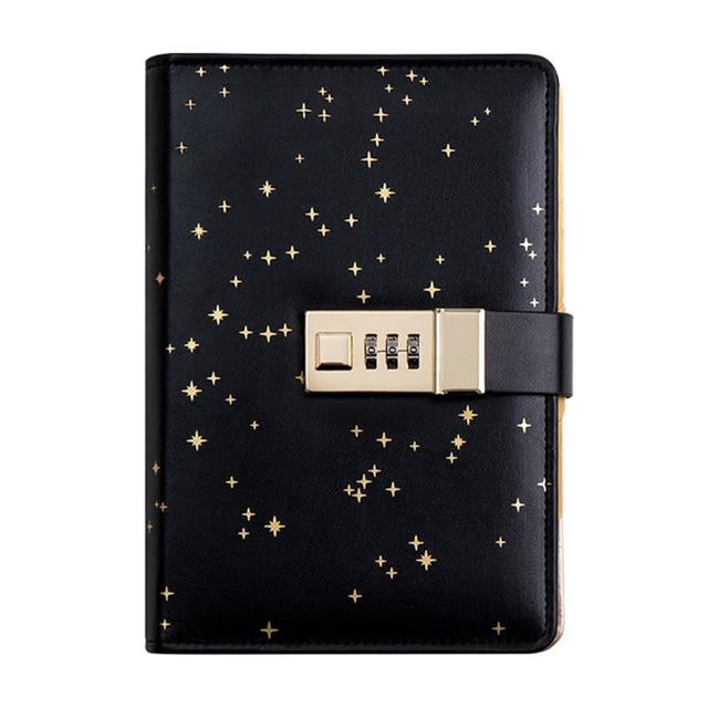 Kawaii A6 Journal intime Journal Journal Star manuel spirale carnet de notes bricolage Agenda serrure reliure Business bloc-notes coffret cadeau + stylo + ruban adhésif
