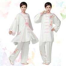 Customize Chinese Tai chi clothing kungfu uniform Martial arts clothes Qigong garment for men women children kids boy girl