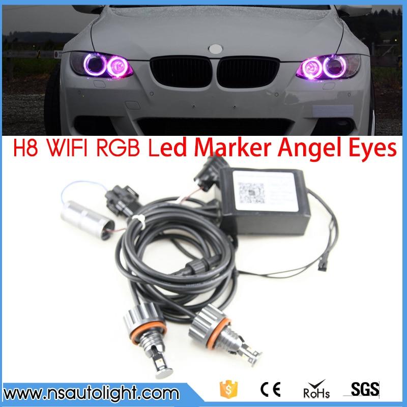New Design No error Multi-colors wifi rgb LED marker e92 angel eye 36w RGB for bmw e92 h8 X5 E70 X6 E71 E90 E91 M3 E60