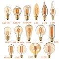 C35 C32T C35T G40 G80 G95 G125 ST64 A19 ST45, 1 W 3 W 4 W 6 W 8 W, Tonalidade Ouro, Edison Filamento Lâmpada LED, Super quente 2200 K, Pode Ser Escurecido