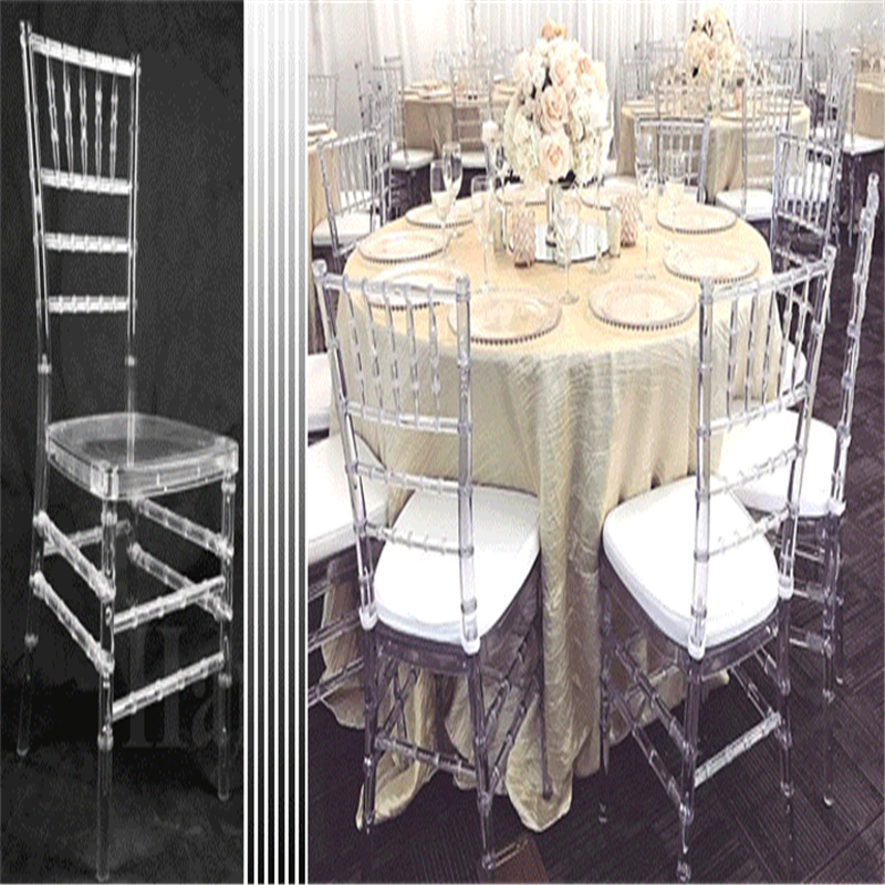 4pcs Transparent Bamboo Chair Wedding Acrylic Chair Banquet Crystal Seat Family Hotel Dining Room Chair Decoration
