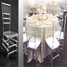 4pcs transparent bamboo chair wedding acrylic chair banquet crystal seat family hotel dining room chair decoration(China)