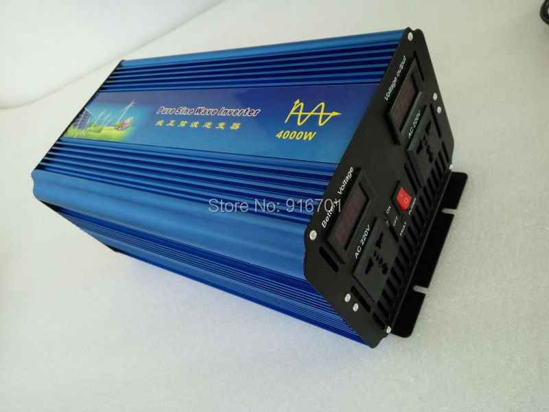 4000W/8000W Pure Sine Wave Power Inverter,24V DC to AC 220V 50Hz solar wind battery home power supply fast shipping free shipping 600w wind grid tie inverter with lcd data for 12v 24v ac wind turbine 90 260vac no need controller and battery